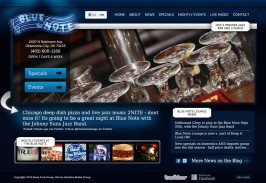 The Blue Note Lounge OKC Web Design by Ingage Creative