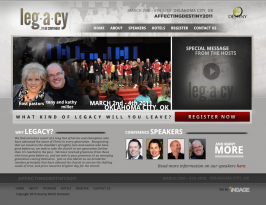 Affecting Destiny 2011 Conference Site Web Design by Ingage Creative