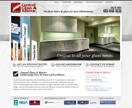 OKC Business Website Design for Central Glass and Mirror