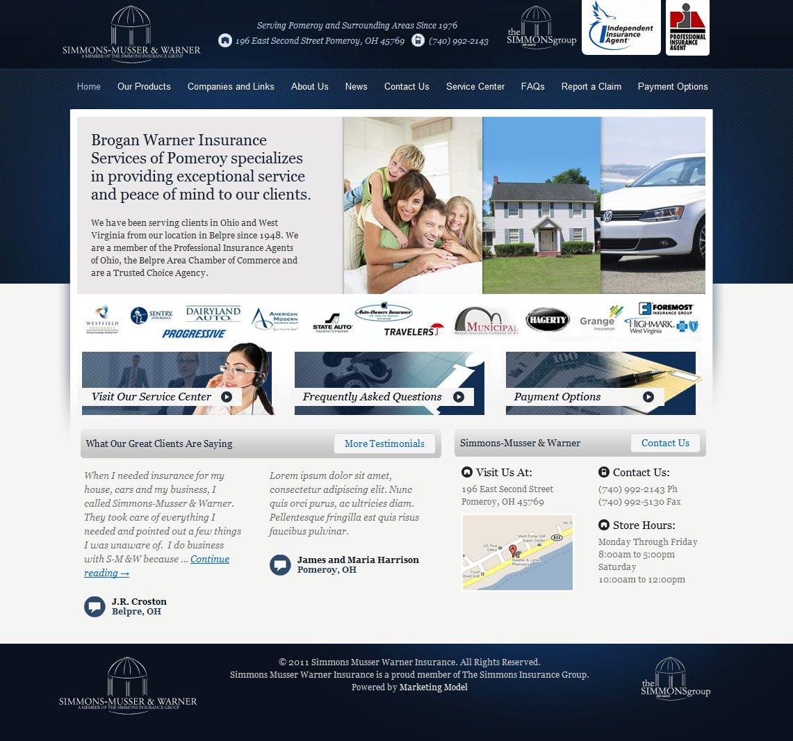 Web Design for Simmons Musser Warner