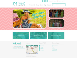 105 West Boutique Web Design Oklahoma City