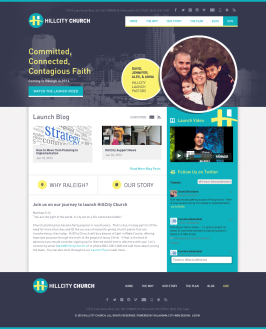 HillCity Church Website Design Oklahoma City