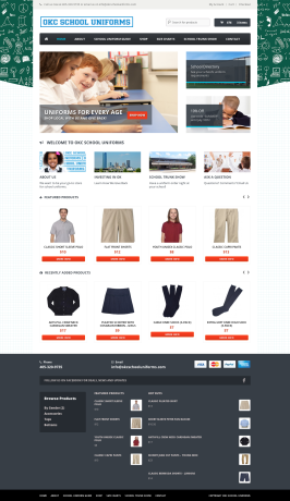 OKC School Uniforms Web Design OKC